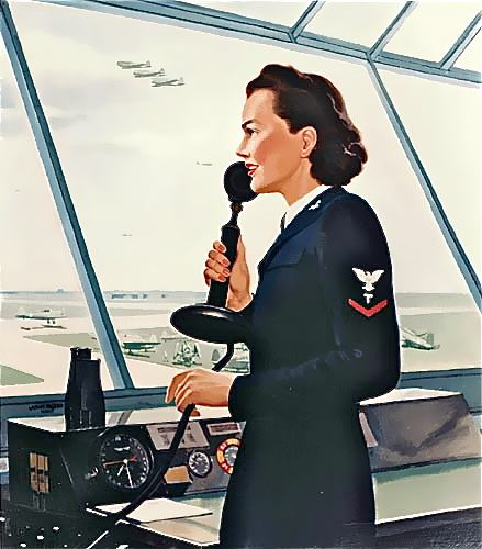 Air Traffic control poster, circa WWII