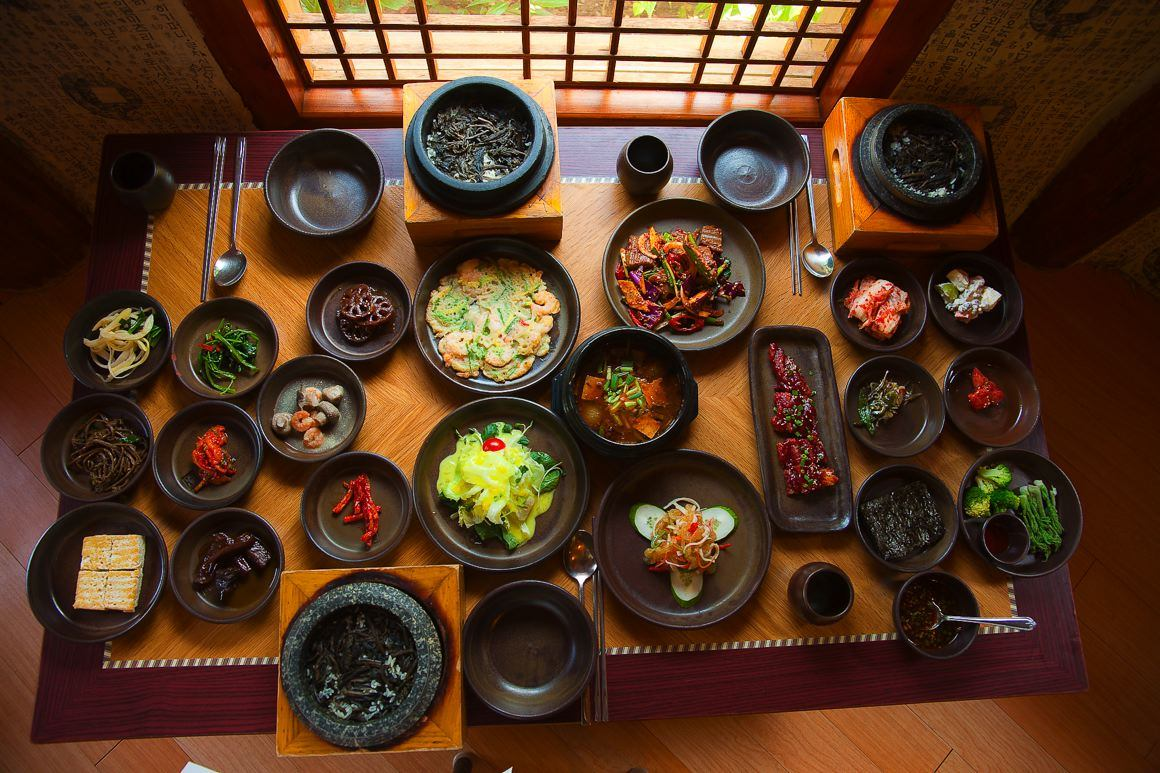 Korean meal  photo by Andy Katz