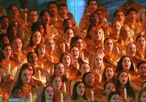 Choir Performing at Disney - photo via Walt Disney Company