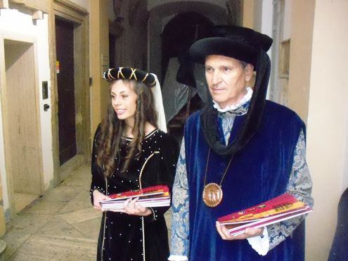 Costumed Residents at Ascoli Piceno Museum