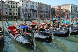 Gondola parking in Venice