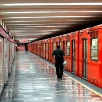 Empty Mexico City Metro