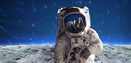 Astronaut image from Buzz Aldrin's site