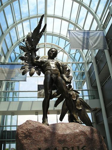 Icarus Statue at Air Force Museum