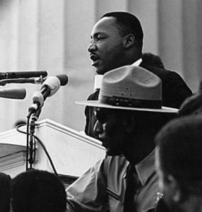 "Martin Luther King, Jr., Delivers Famous ""I Have A Dream"" Speech"
