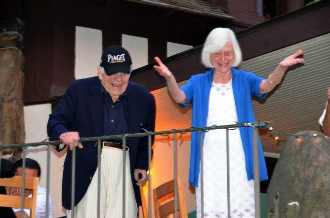 Brian's Father & friend Beryl Hail Their Arrival