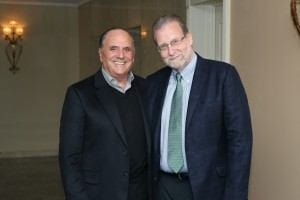 Corinthia Hotels Co-Founder and Chairman Alfred Pisani with Peter Greenberg.
